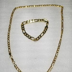 Other - 14K Yellow Gold Plated Necklace and Bracelet.